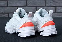 Женские демисезонные кроссовки Nike M2K Tekno оранжевые топ реплика, фото 2