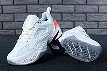 Женские демисезонные кроссовки Nike M2K Tekno оранжевые топ реплика, фото 3