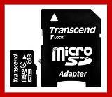 Карта памяти 8гб MicroSD 8GB class 4 + Переходник