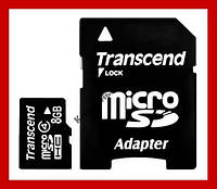 Карта пам'яті 8гб MicroSD 8GB class 4 + Перехідник