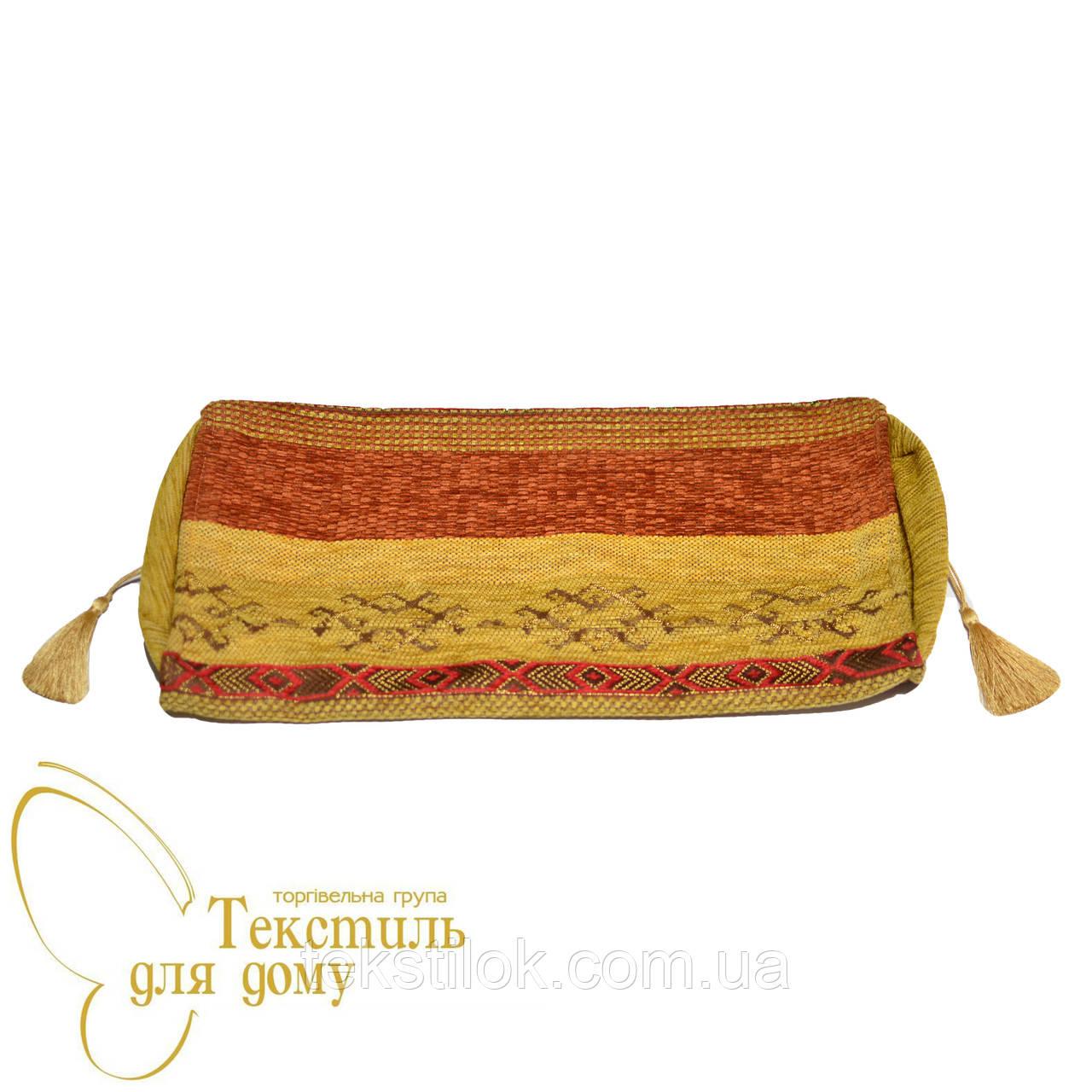 Наволочка декоративная валик ковровый орнамент DIMENSON, оранжевый
