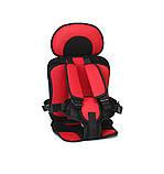 Портативний безкаркасне дитяче автокрісло (червоне з чорним), фото 2