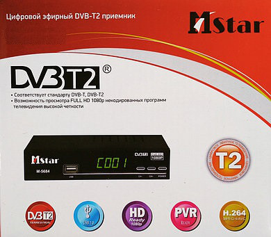 Тюнер Т2 M-STAR DVB-T2 Пульт WiFi YouTube FullHD 32 канала