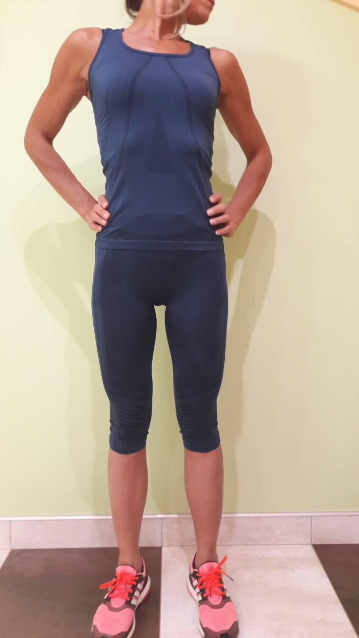 Комплект для фитнеса и йоги женский Maraton бриджи+ майка-борцовка