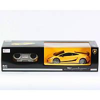 Машина Lamborghini Superleggera детская на радиоуправлении, желтая, 1:24, на батарейках, в коробке
