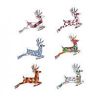 Деревянные пуговицы, Северный олень, С двумя отверстиями, 32 мм x 26 мм, 10 шт., фото 1