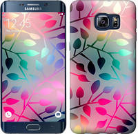 """Чехол на Samsung Galaxy S6 Edge Plus G928 Листья """"2235u-189-15158"""""""