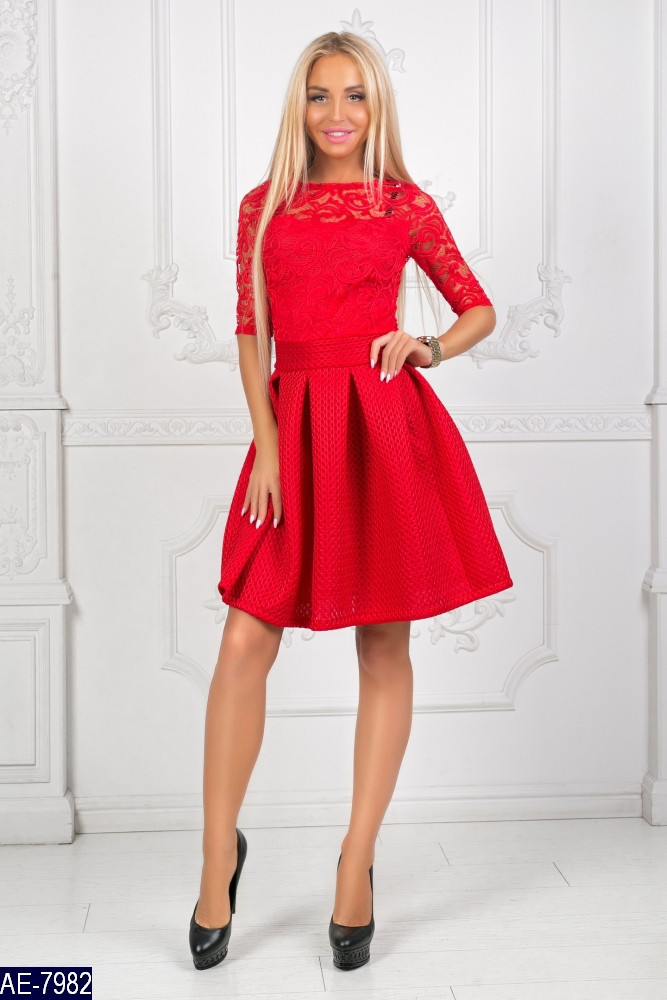 c94e93d1866c515 Нарядное молодежное платье с пышной юбкой - Интернет-магазин