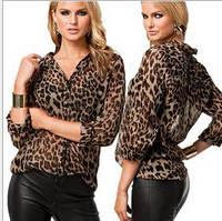 Блузка леопардовая свободного кроя