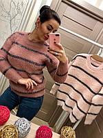 Женский стильный свитер в полоску (2 цвета), фото 1