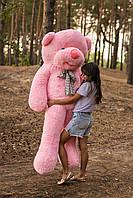 Огромный плюшевый мишка Дейман 210 см розовый