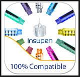 Инсулиновые иглы для шприц-ручек 4mm,32G-0,23mm, фото 4