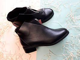 Ботинки Eva женские черные низкие на замочке