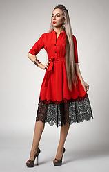 """Платье  """"Виола"""" красного цвета"""