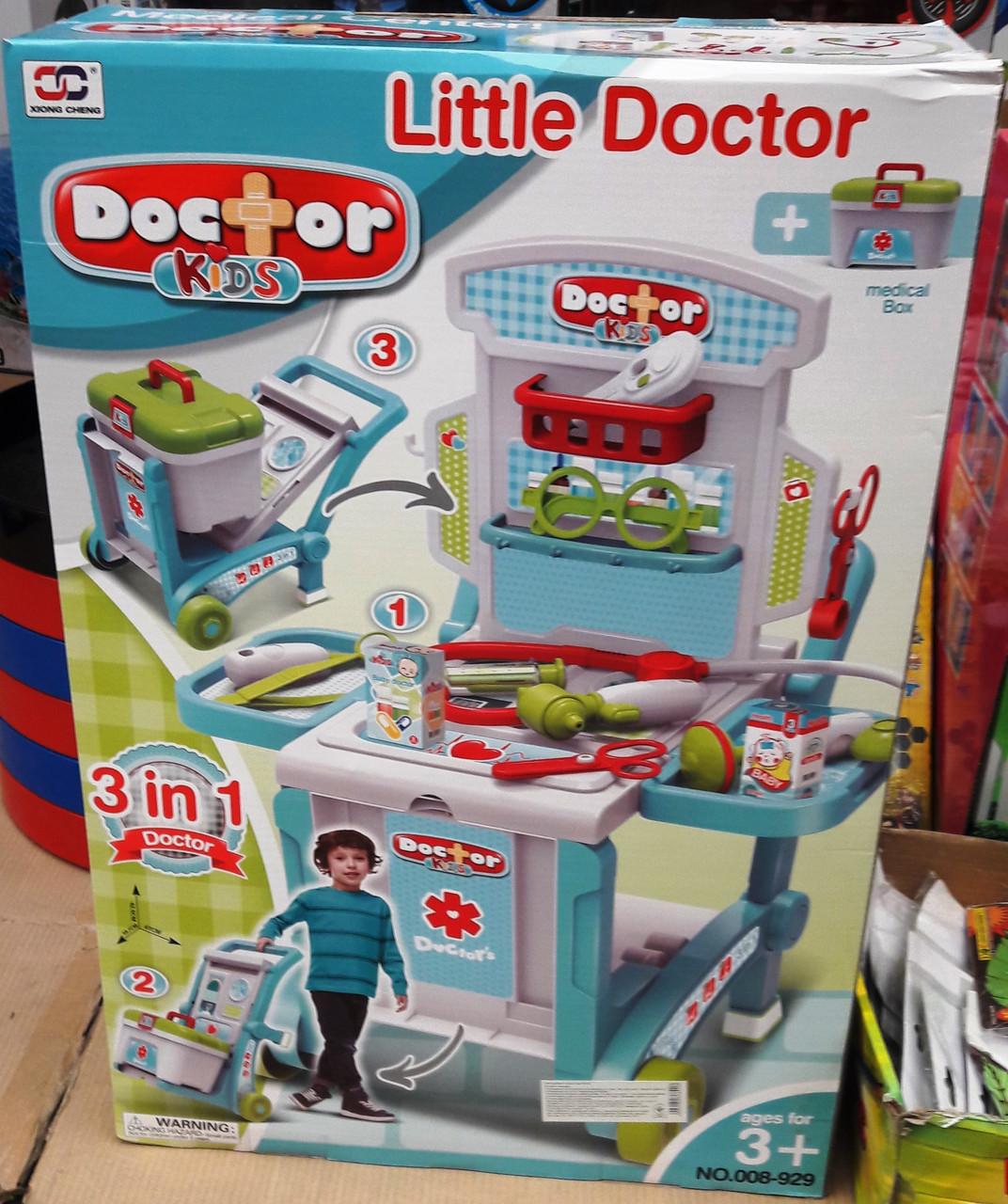 Игровой набор Доктора 008-929 в Чемодане - трансформере 4 в 1 на колесах