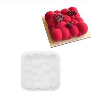 """Силиконовая форма для муссовых тортов """"3D пузырьки"""""""