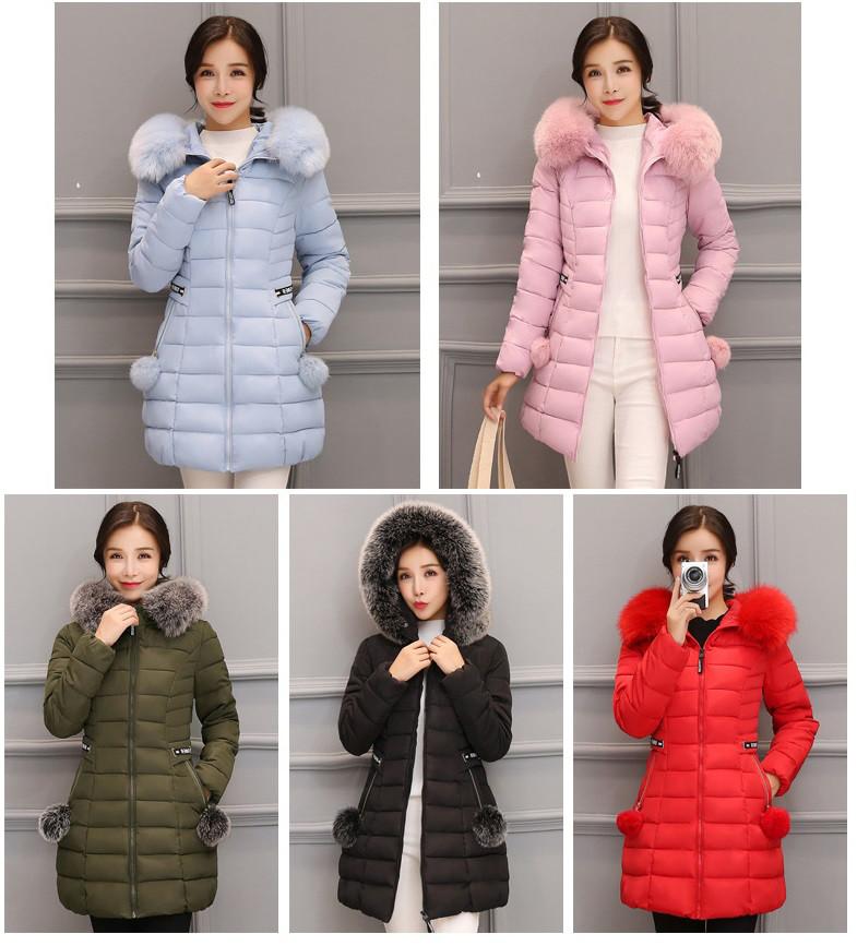10d698b6304 Демисезонная женская куртка с капюшоном меховой помпон на карманах -