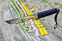 Нож нескладной в стиле Танто, с темляком и тканевым чехлом в комплекте