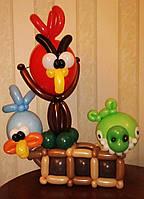 Композиция из воздушных шаров ANGRY BIRDS