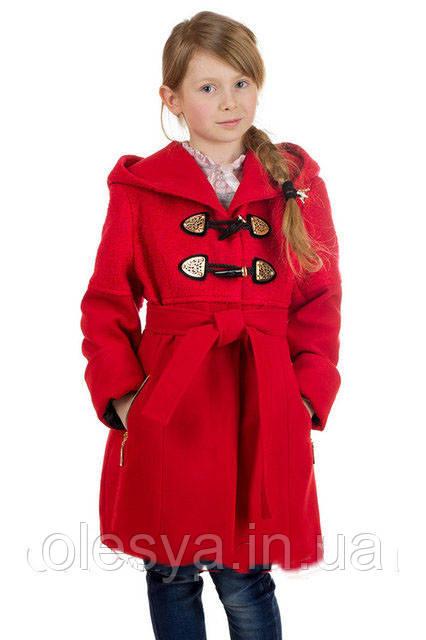 Демисезонное кашемировое детское пальто на девочку Букле 1620 размеры 36- 42