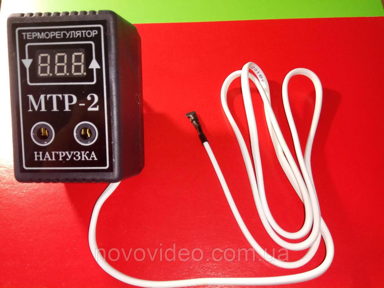 Терморегулятор МТР-2 для отопления цифровой на 10А