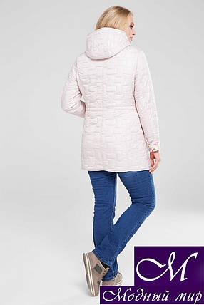 Женская светлая осенняя куртка (р. 46-60) арт. Дебра крем, фото 2