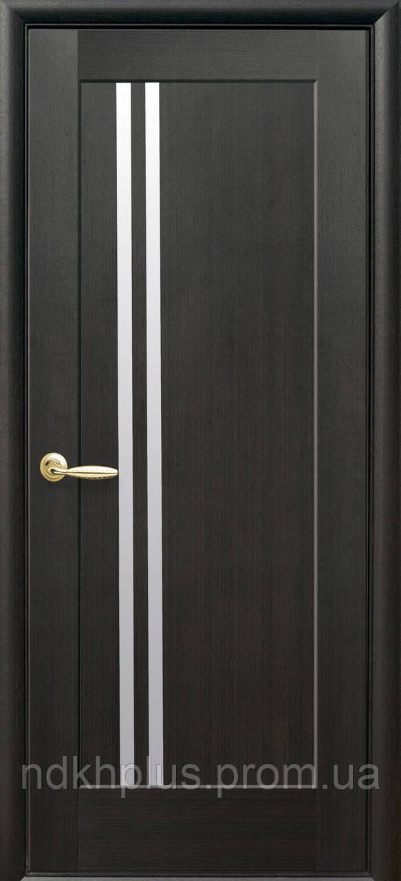Двери межкомнатные Делла, стекло сатин