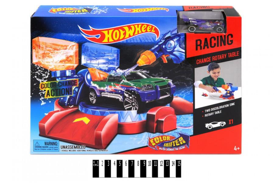 Автомийка Hot wheel 2704, трек хот вілс, автотрек, машинка змінює колір