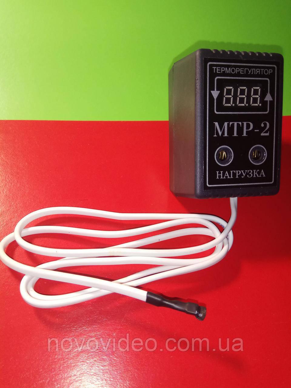 Терморегулятор МТР-2 цифровой в розетку для обогревателя на 16А