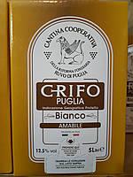 Вино белое полусладкое Crifo Puglia Bianco Amabile 5 л (Италия), фото 1