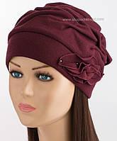 Трикотажная шапочка для женщин Беатрис плюс бордового цвета