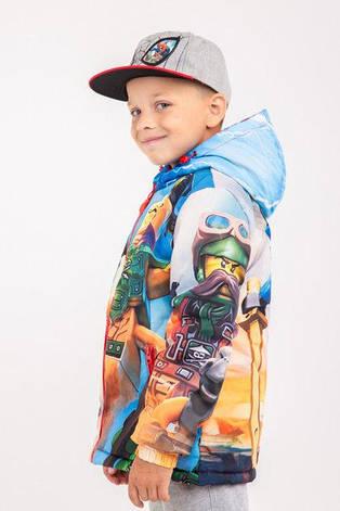 """Куртка весна-осень с принтом """"Ninjago"""", 128,134,140,146 роста, фото 2"""