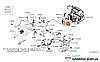 Втулка уплотнительная шлангов / патрубков отопителя печки Nissan Leaf ZE0 (10-13) 92580-1FE0A