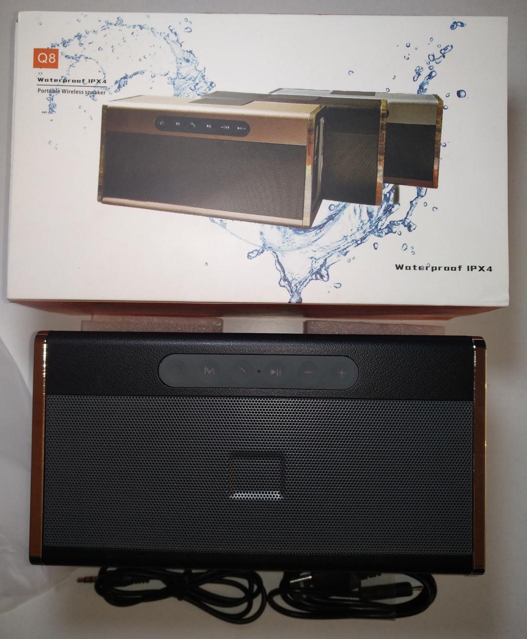 Влагозащищенная Bluetooth колонка Q8 (MP3, FM, USB, TF, AUX)