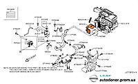 Кожух шланга отопителя печки Nissan Leaf ZE0 (10-13) 92419-1FC0A