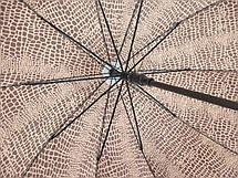 Зонт трость женский полуавтомат 10 спиц зонты женские, фото 3