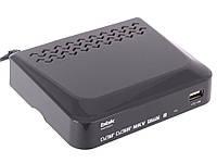 T2- Тюнер  Цифровой телевизионный DVB-T2 ресивер BBK SMP018HDT2 темно-серый, фото 1