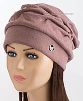 Утепленная шапочка для женщин Беатрис плюс с ангорой лиловая