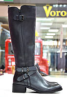 Сапоги темно-серые кожаные с ремешками Roberta Lopes к.-702, фото 1
