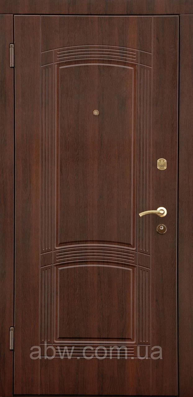 """Двері """"Порталу"""" - серія Стандарт - модель ПАСАЖ - темний горіх ВИНОРИТ (Вулиця)"""
