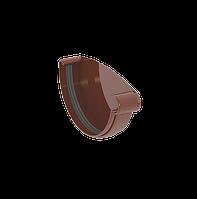 Заглушка желоба правая 120 мм коричневая