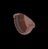 Заглушка ринви права 120 мм коричнева