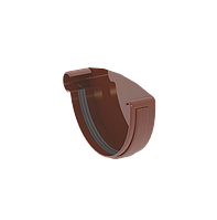 Заглушка желоба левая 120 мм коричневая