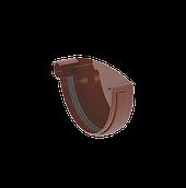Заглушка ринви ліва 120 мм коричнева