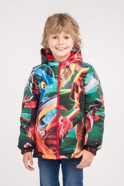 """Куртка весна-осень с принтом """"Ниндзяго 3"""", 134,140,146 роста"""