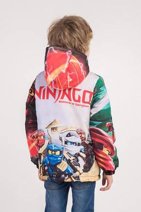 "Куртка весна-осень с принтом ""Ниндзяго 3"", 134,140,146 роста, фото 2"