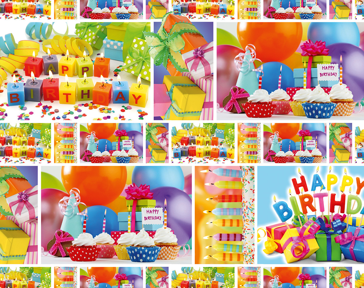 "Подарочная бумага для упаковки  "" Happy Birthday "", 5 шт/уп"