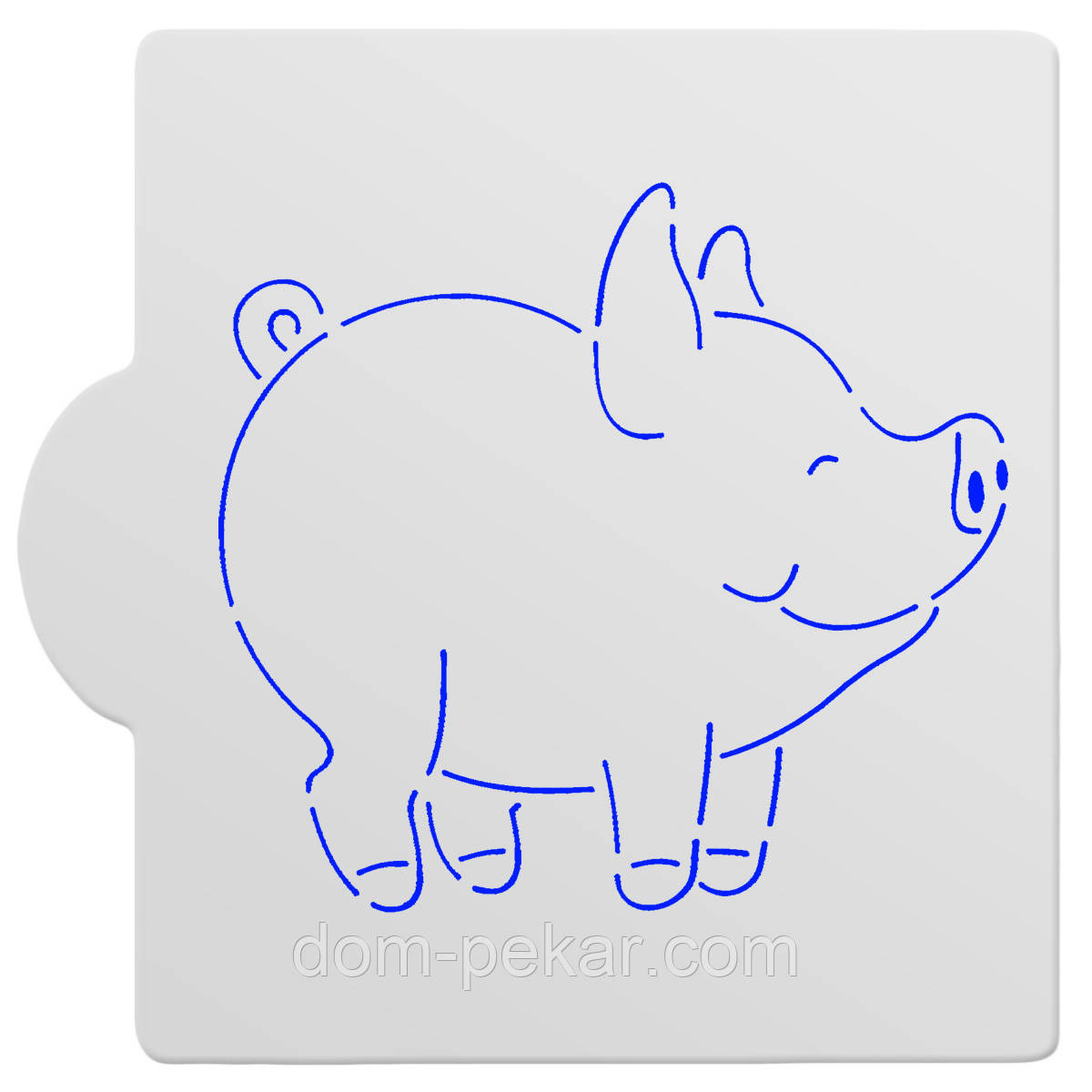 Трафарет Свинка довольная-1 11 см HMA-М493