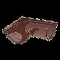 Кут жолоба 120 мм зовнішній 90 градусів коричневий