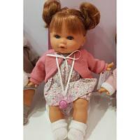 Кукла девочка мягконабивная Dato с пустышкой 30 см Antonio Juan 1333